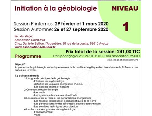 Stages géobiologie – LYON – niveau 1
